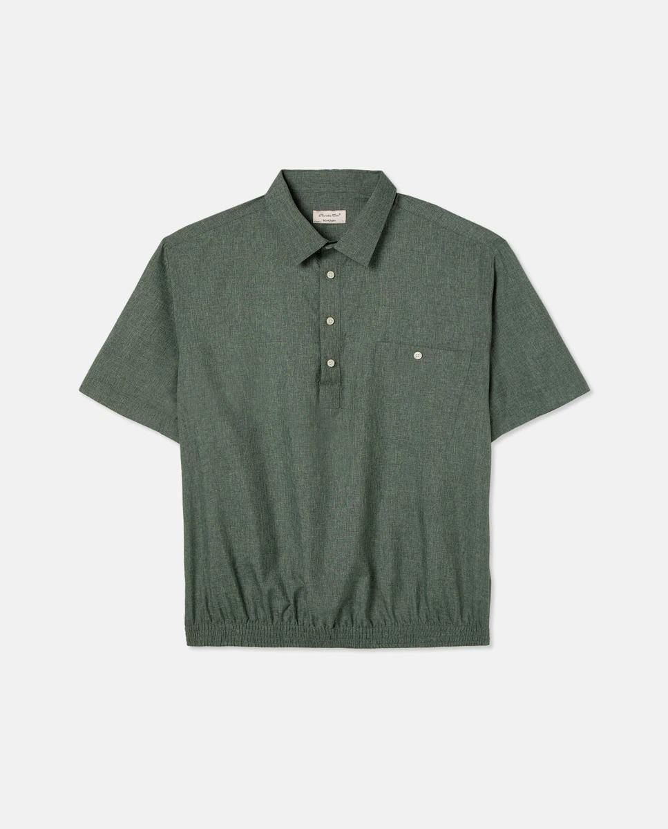 Camisa polera de hombre classic lisa verde tallas grandes