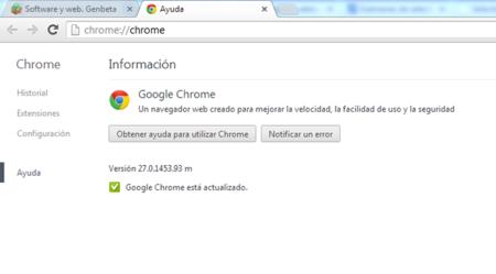 Chrome 27 sale de beta mejorando la velocidad en la carga de páginas