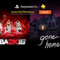 NBA 2K16 y Gone Home son la propuesta de PlayStation Plus para PS4 de cara al mes de Junio
