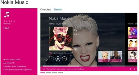 Nokia Music llega a Windows 8