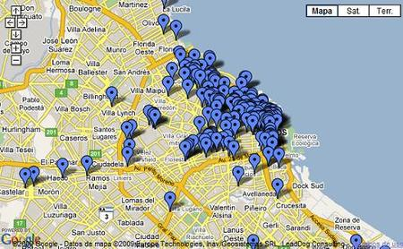 Mapa WiFi de Buenos Aires