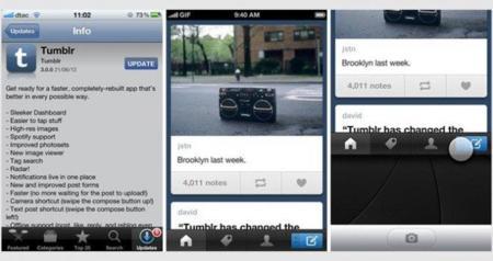 Tumblr actualiza su versión para iOS