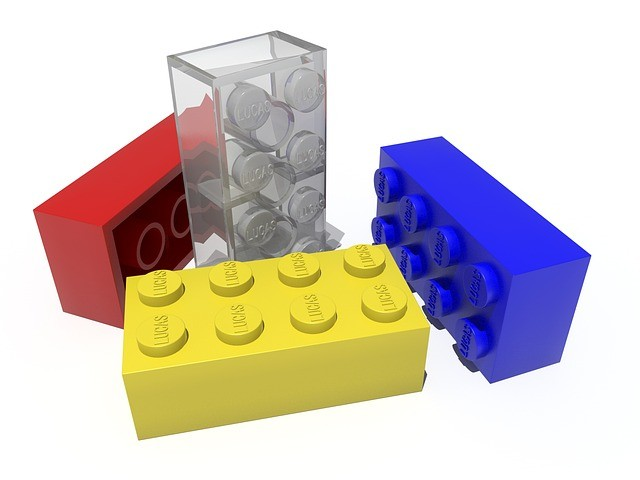 Bloques de juego de construcción.