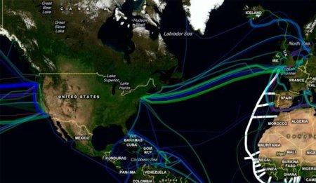 ¿Dónde están los cables submarinos?