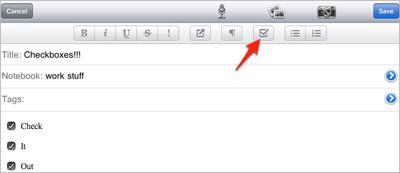 Evernote acoge iOS 5 y novedades en el formato de notas