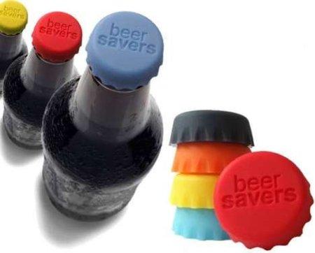 Beer Savers, tapones de silicona reutilizables para la cerveza