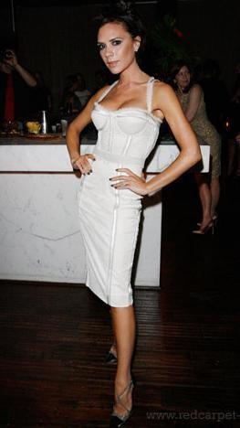 El look de Victoria Beckham en la fiesta de Eva Longoria