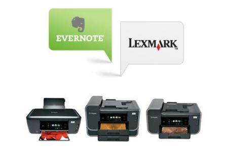 Lexmark y Evernote, las aplicaciones llegan a las impresoras