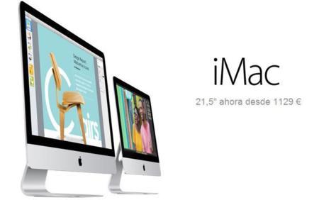 Apple renueva su catálogo de iMacs con un 21,5 pulgadas más barato y modesto