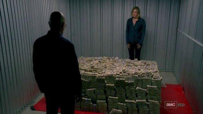 Skyler y Walter en el episodio 5x08 de 'Breaking Bad'