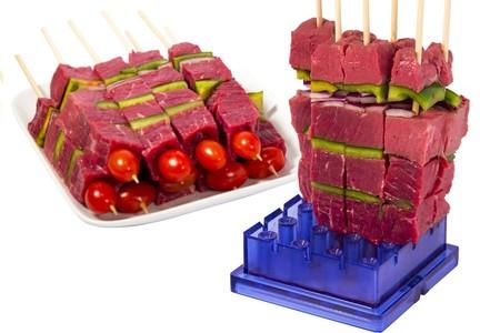 Clever kebab, el utensilio para hacer brochetas sin despeinarse