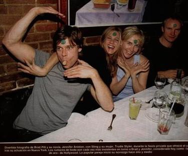 Jennifer Aniston y Brad Pitt tuvieron una cita... de negocios