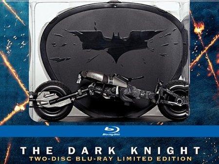Bluray de El caballero oscuro con réplica a escala de la Bat-pod