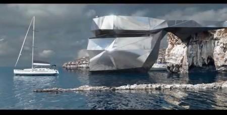 ¿Sustituir la desaparecida Ventana Azul de Malta por una escultura futurista?