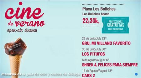 Cine infantil para familias con niños en la playa de los Boliches (Fuengirola)