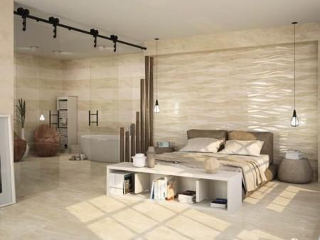 Cer mica en relieve una genial idea para conseguir el for Ceramica en pared