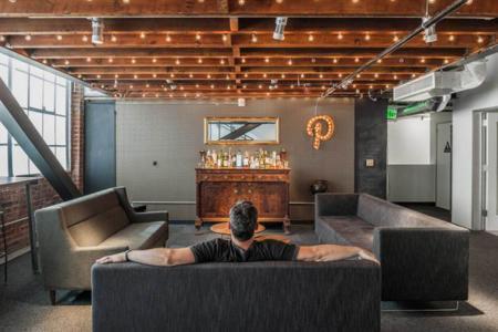 No hay tableros en las oficinas de Pinterest en San Francisco