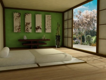 Zen Green Bedroom Design