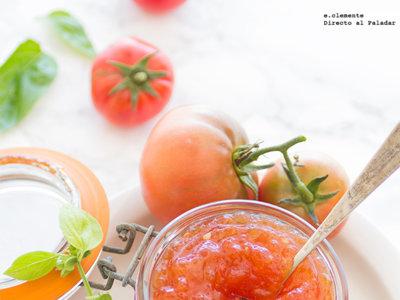 Mermelada de tomate y albahaca. Receta