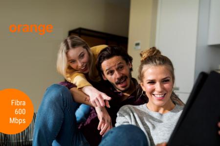 Orange renueva su oferta de sólo fibra: ahora 600 Mbps por 40,95 euros para todos