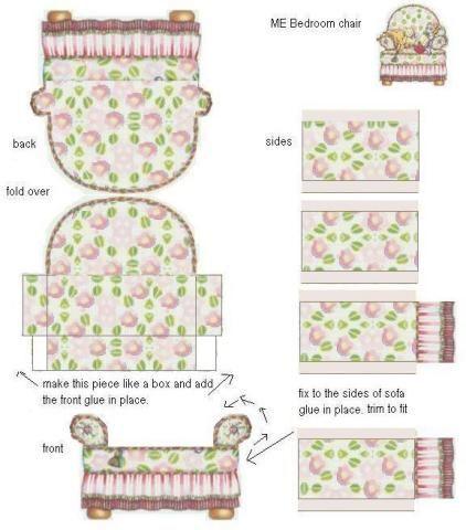 Un sofá de flores.