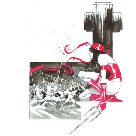 Inktober Elektra By Nelsondaniel Dalfdx4