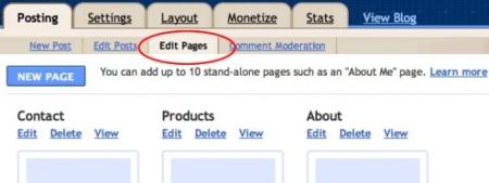 Blogger ahora permite crear páginas independientes en un blog