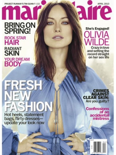 Olivia Wilde da alguna que otra pista personal a Marie Claire