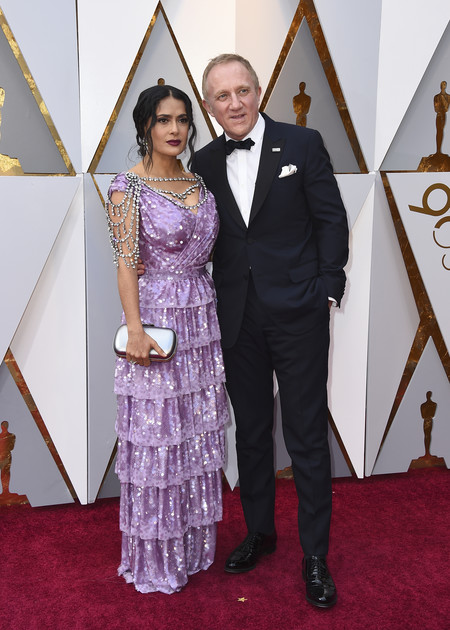 Oscars 2018 Salma Hayek Y Francois Henri Pinault