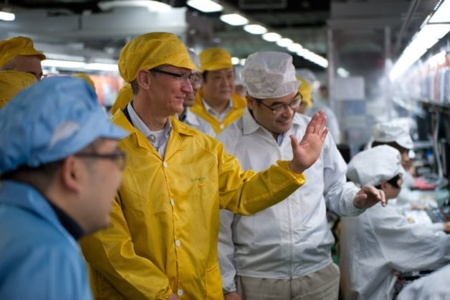 tim cook foxconn china visita fábricas