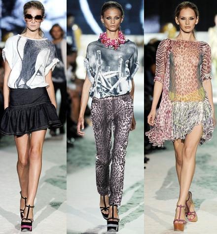 Just Cavalli en la Semana de la Moda de Milán primavera-verano 2009