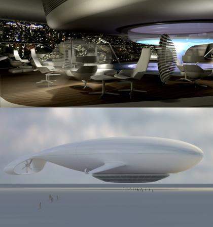 El zepelín Manned Cloud de Massaud es premio Etoile du Design 2008 en París