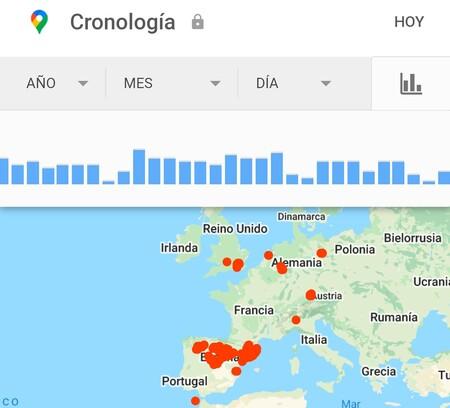 Historial Ubicaciones Google