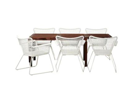 Conjunto de mesa y sillas para terraza y jardín de Ikea