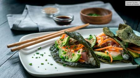 Tacos de sushi: la nueva forma de hacer sushi sin tanto trabajo (receta con vídeo incluido)