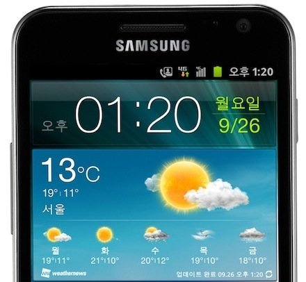 Samsung Galaxy SII HD pantalla