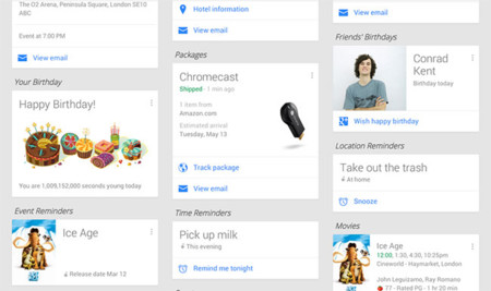 Google Now Packages