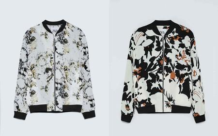 Las Cazadoras De Zara Se Pintan De Abstraccion Y Flores En Dos Modelos Basicos Para Tus Looks