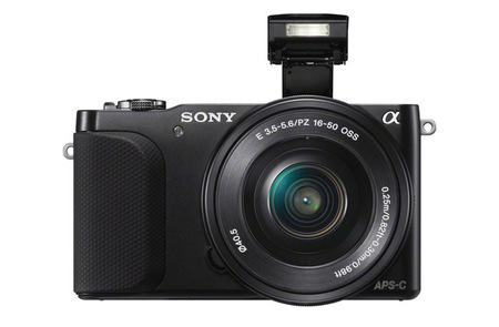Sony NEX-3N con flash