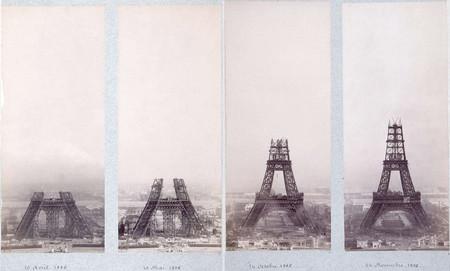 La construcción de la Torre Eiffel, retratada paso a paso en las fotografías de la época