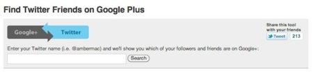 Twitter2plus, encuentra en Google Plus a tus usuarios favoritos de Twitter