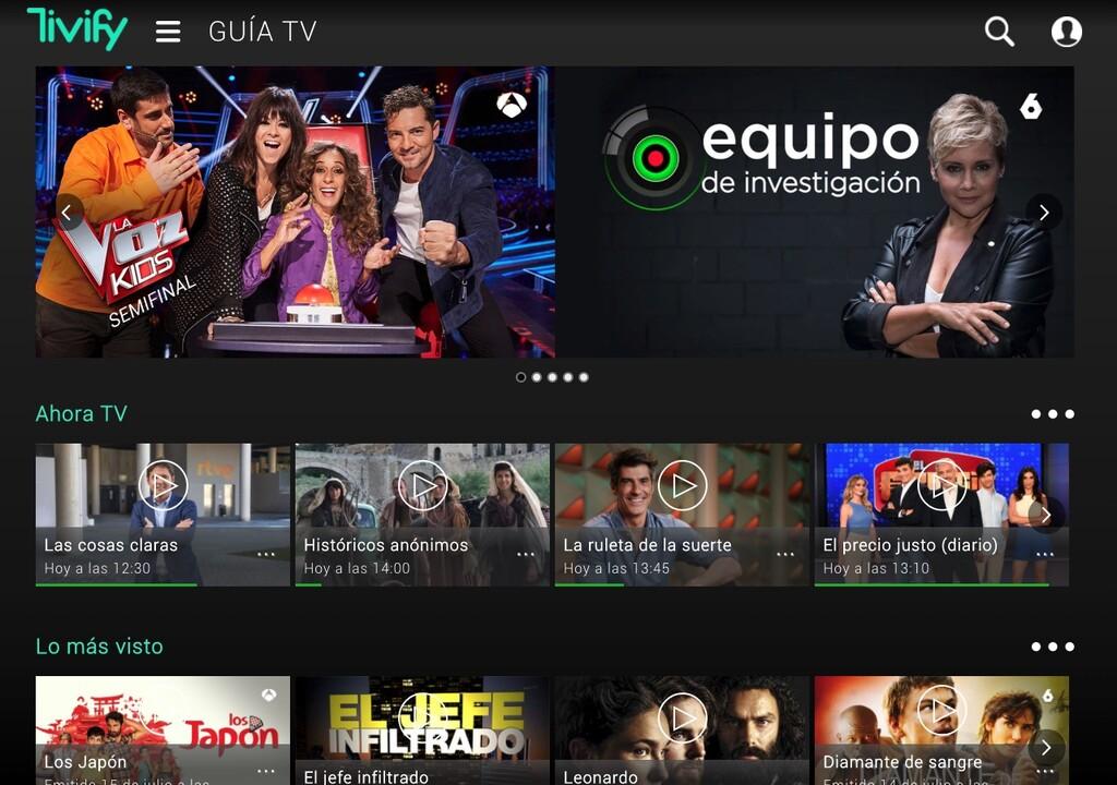 Tivify ahora es gratis: más de 80 canales de la TDT en la misma aplicación y sin publicidad añadida