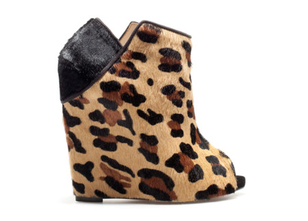 Zapatos cuña leopardo