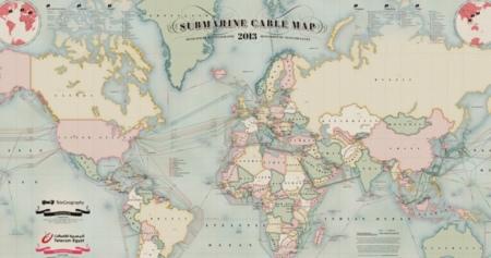 Los cables submarinos de datos actualizados en un mapa interactivo