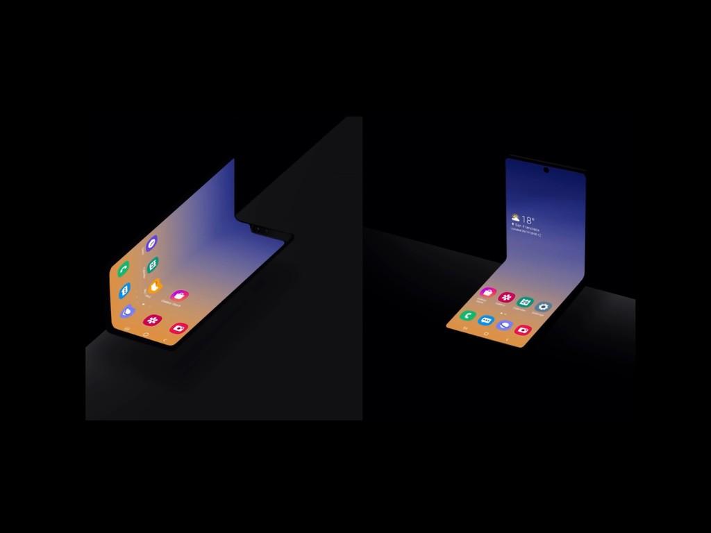 Samsung muestra su nuevo concepto de teléfono con pantalla plegable, esta vez se dobla por la mitad