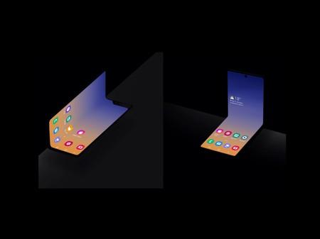 """Samsung muestra su nuevo concepto de teléfono con pantalla plegable, esta vez se dobla horizontalmente en formato """"concha"""""""