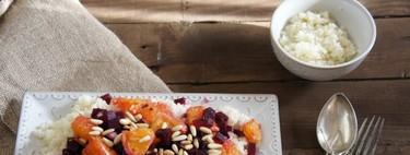 Ensalada de naranja y remolacha con cous-cous. Receta