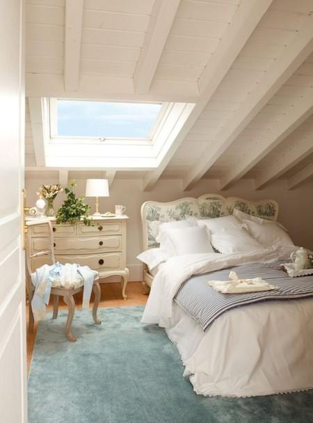 7 ideas para que un dormitorio peque o parezca m s grande for Alfombras motivos geometricos