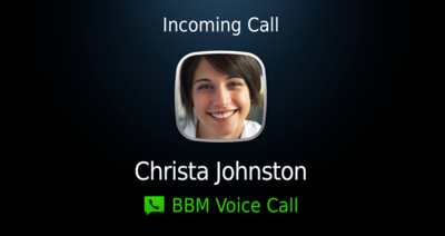 BBM Voice, llamadas vía WiFi dentro de BlackBerry Messenger