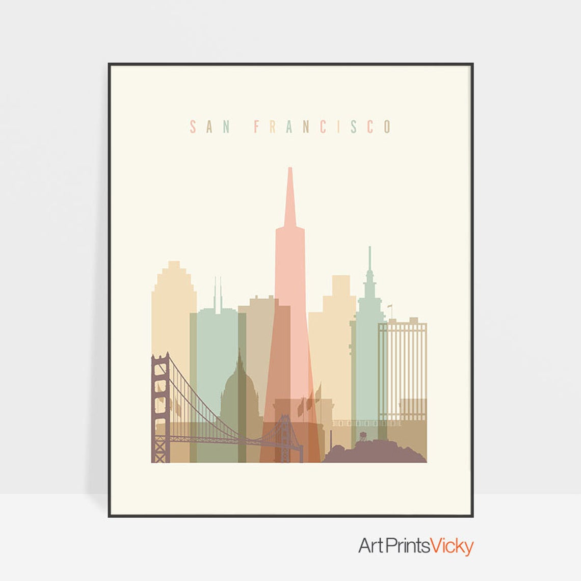Lámina con el skyline de San Francisco
